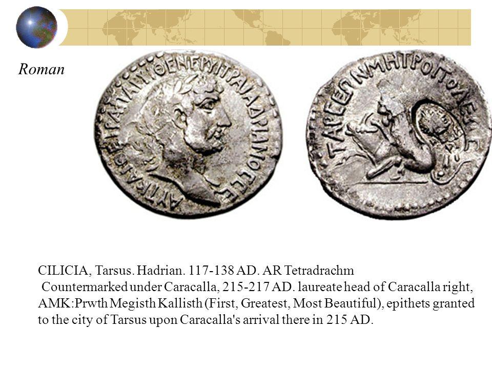 Roman CILICIA, Tarsus. Hadrian. 117-138 AD. AR Tetradrachm