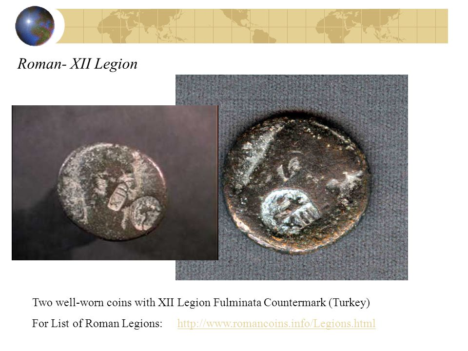 Roman- XII Legion Two well-worn coins with XII Legion Fulminata Countermark (Turkey)