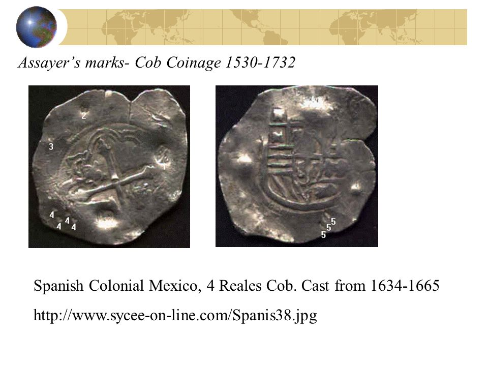 Assayer's marks- Cob Coinage 1530-1732