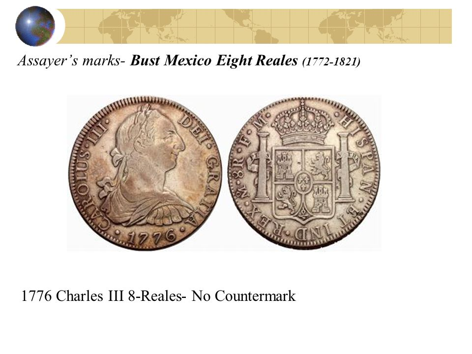 Assayer's marks- Bust Mexico Eight Reales (1772-1821)