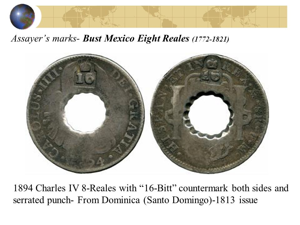 Assayer's marks- Bust Mexico Eight Reales ( )