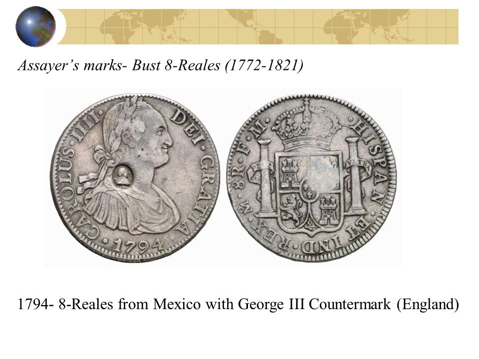 Assayer's marks- Bust 8-Reales (1772-1821)