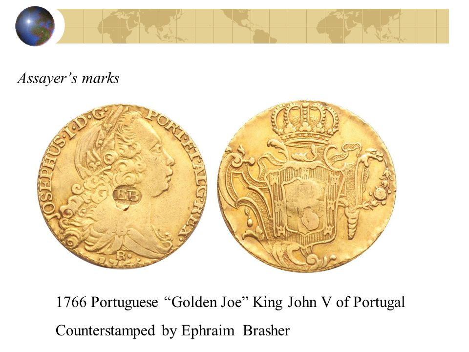 Assayer's marks 1766 Portuguese Golden Joe King John V of Portugal.