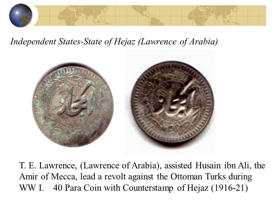 Independent States-State of Hejaz (Lawrence of Arabia)