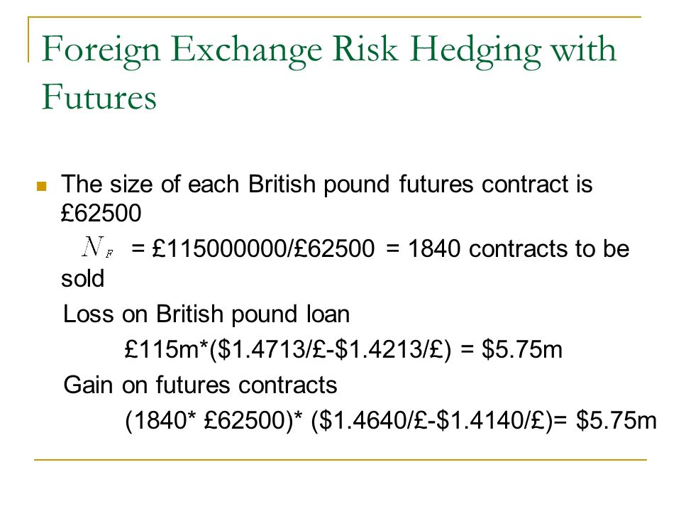 Foreign Currency Hedging