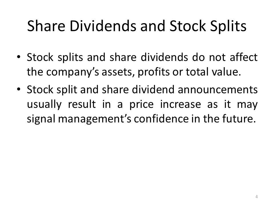 Stock splits affect options