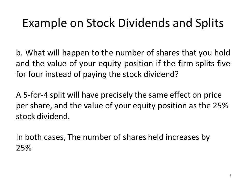 What happens to stock options when stock splits