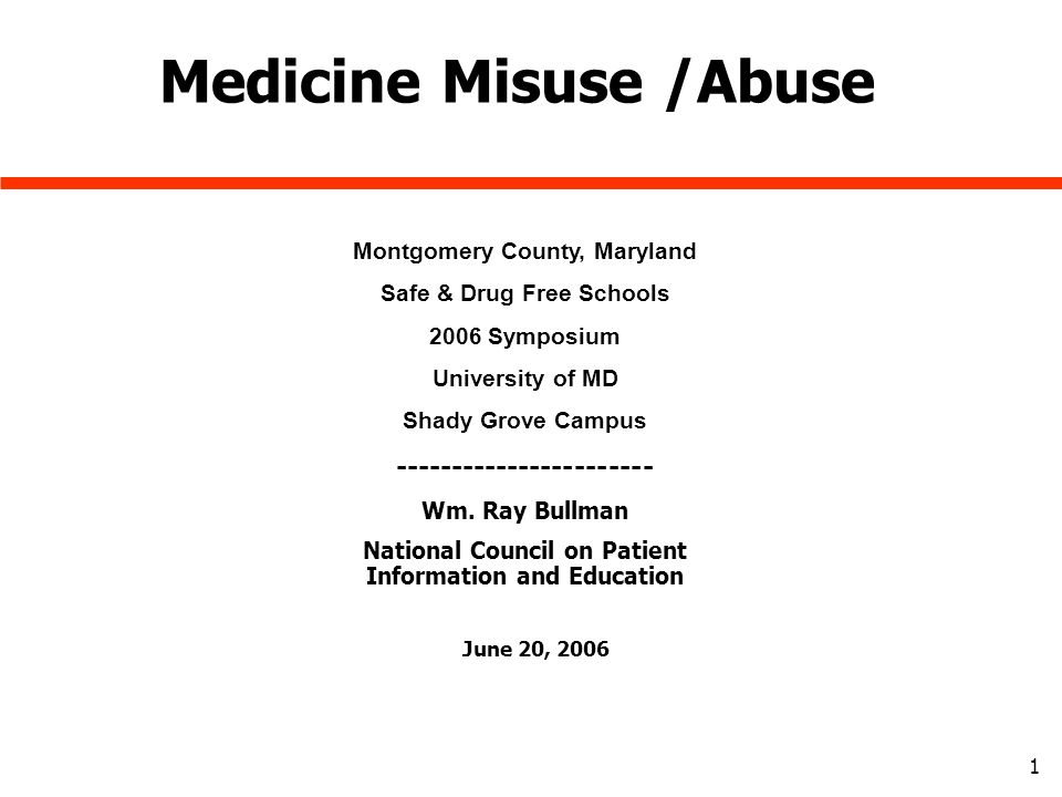 Medication Abuse / Inhalant Abuse