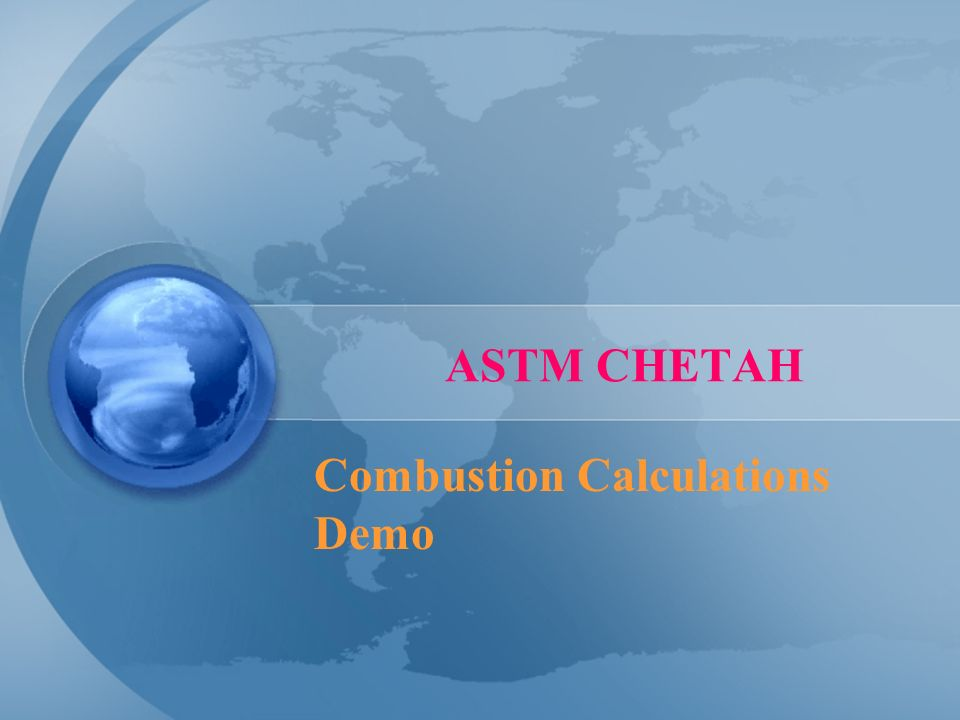 Combustion Calculations Demo