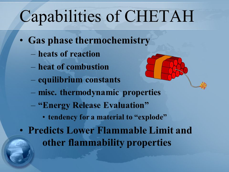 Capabilities of CHETAH