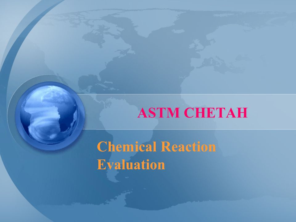 Chemical Reaction Evaluation
