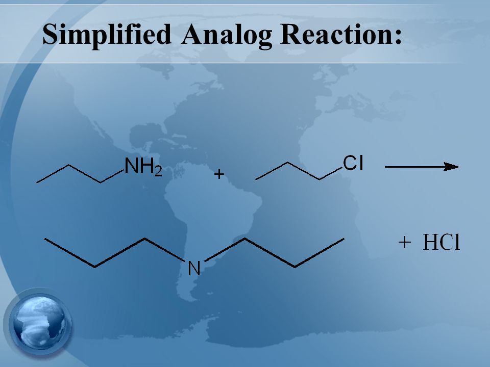 Simplified Analog Reaction: