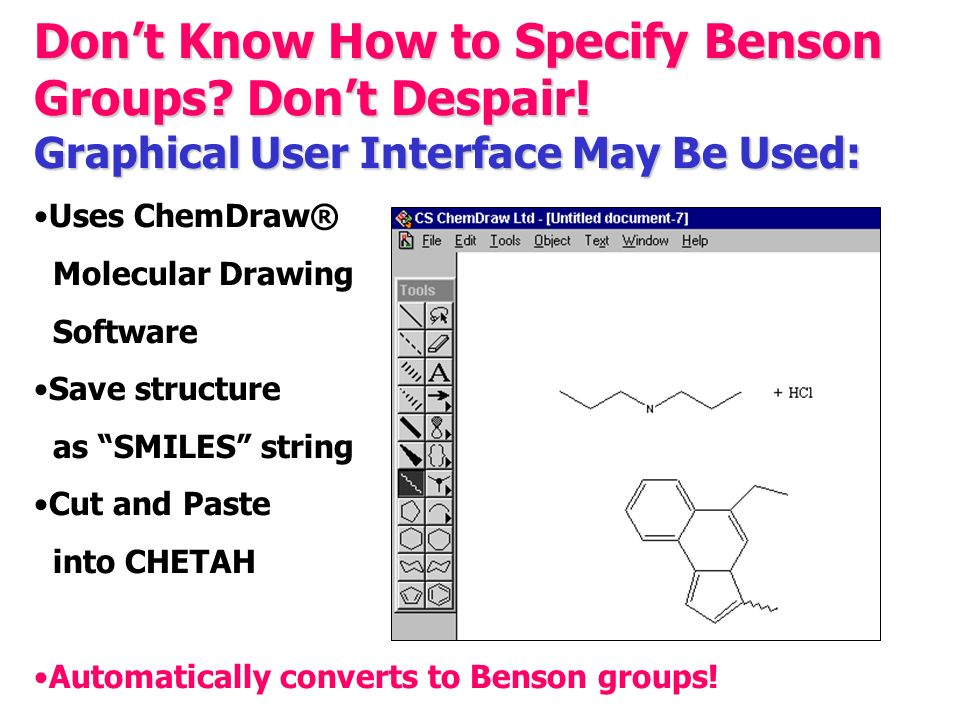 Don't Know How to Specify Benson Groups. Don't Despair