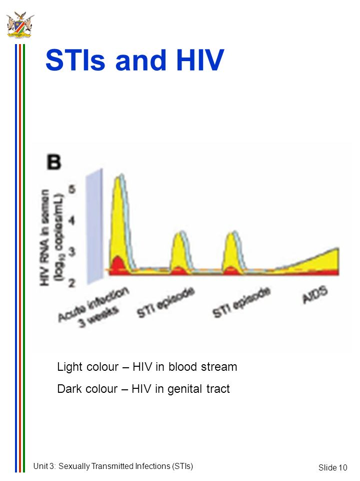 STIs and HIV Light colour – HIV in blood stream