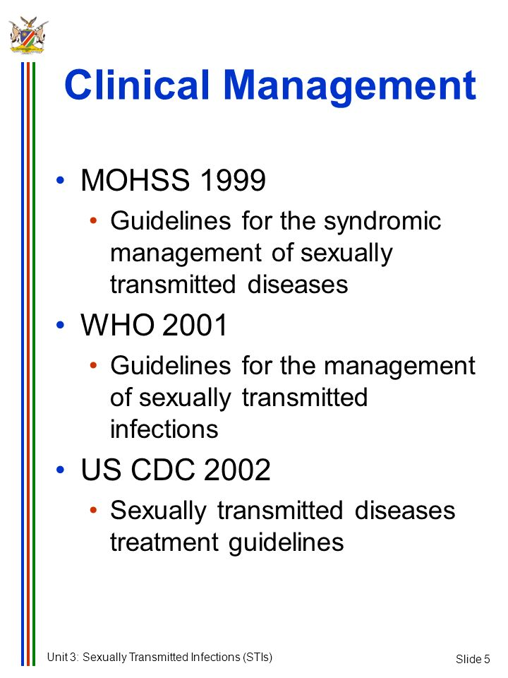 Clinical Management MOHSS 1999 WHO 2001 US CDC 2002