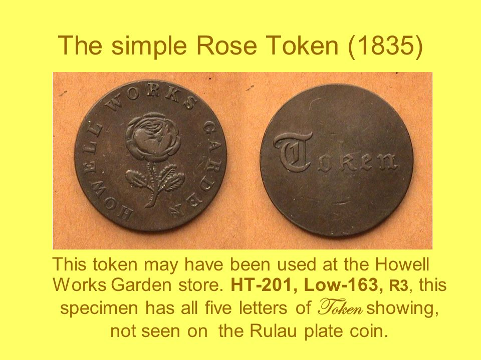 The simple Rose Token (1835)