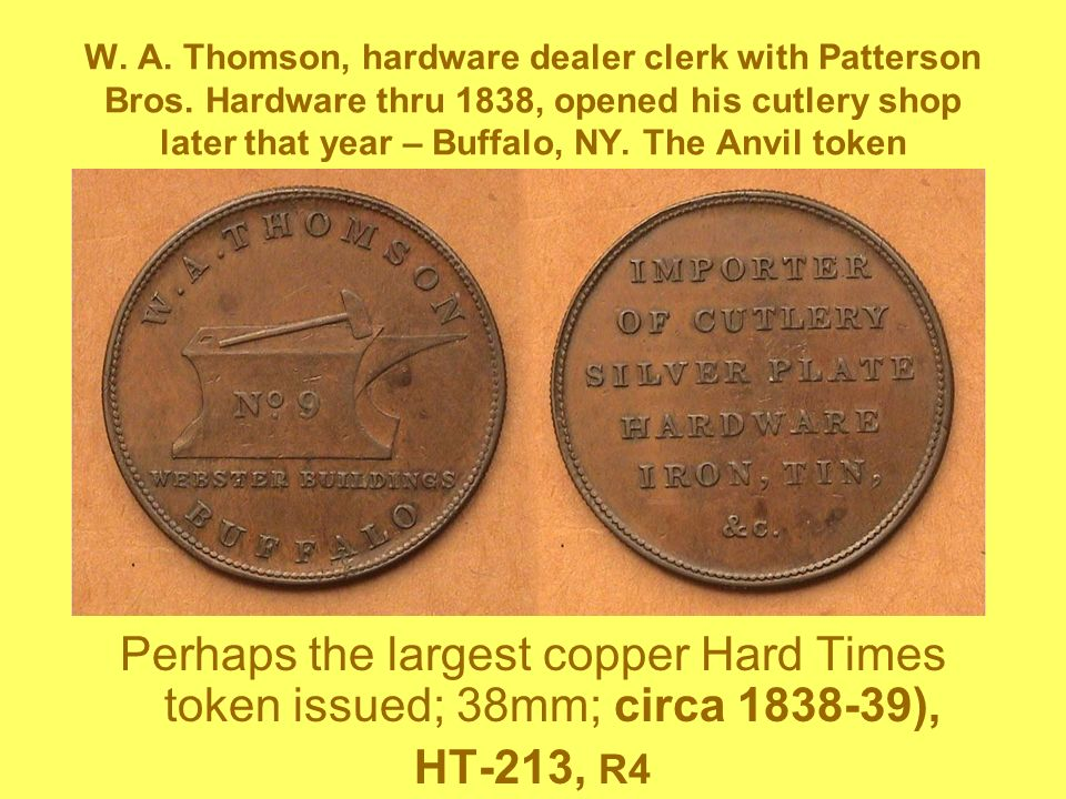 W. A. Thomson, hardware dealer clerk with Patterson Bros