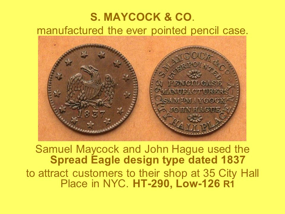 S. MAYCOCK & CO. manufactured the ever pointed pencil case.