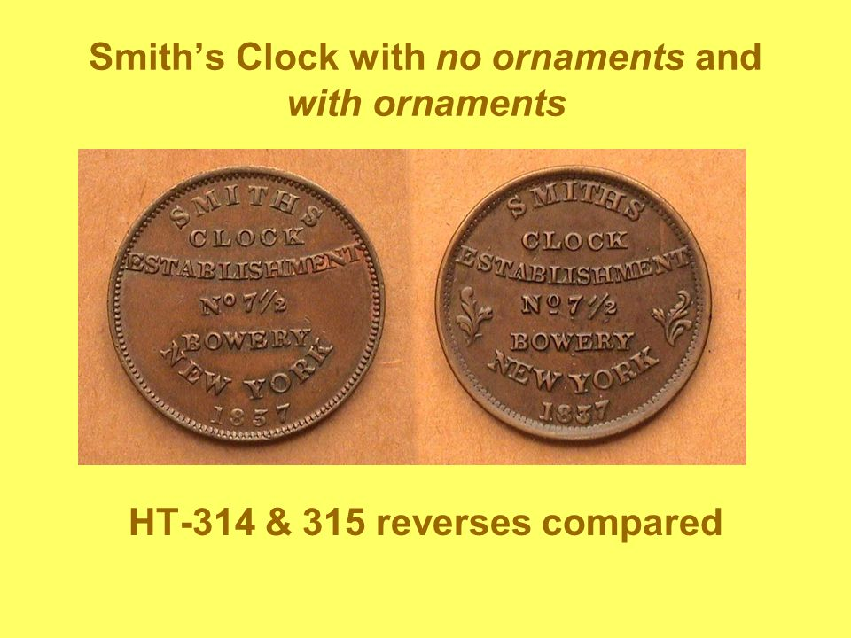 Smith's Clock with no ornaments and with ornaments