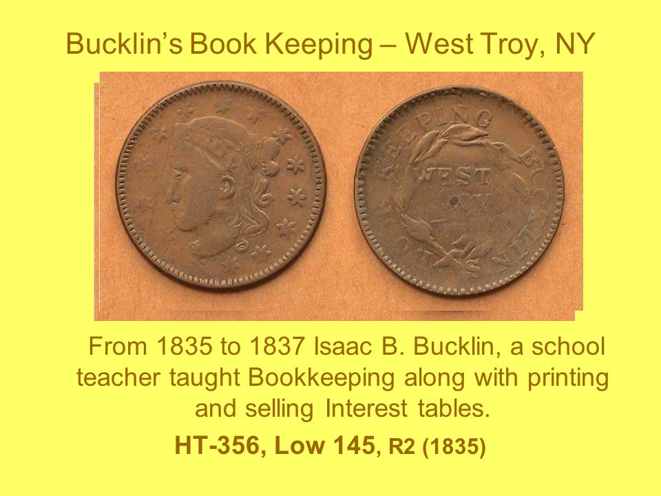 Bucklin's Book Keeping – West Troy, NY
