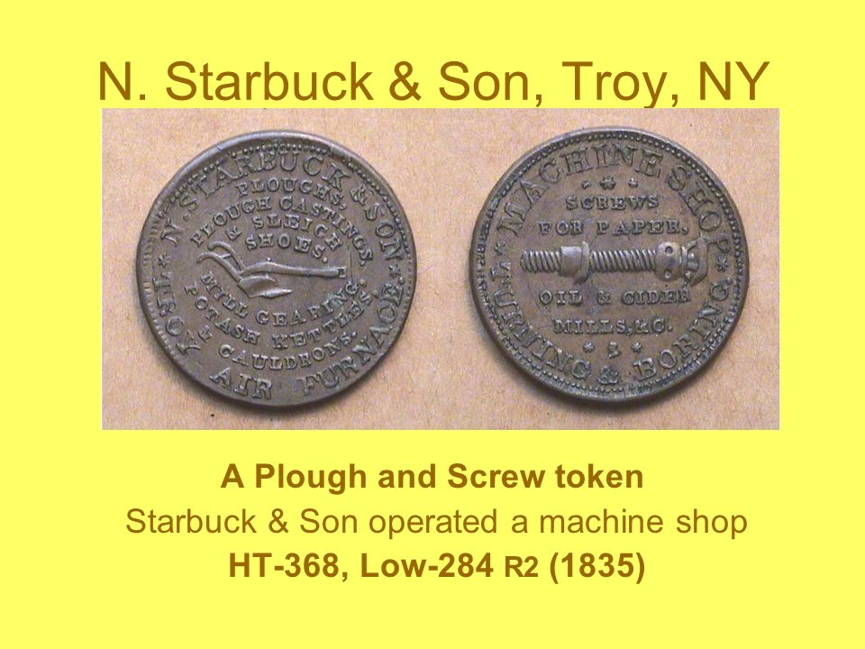 A Plough and Screw token