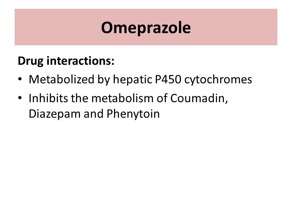 Omeprazole Medication Interactions