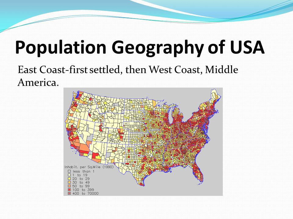 Population Geography of USA