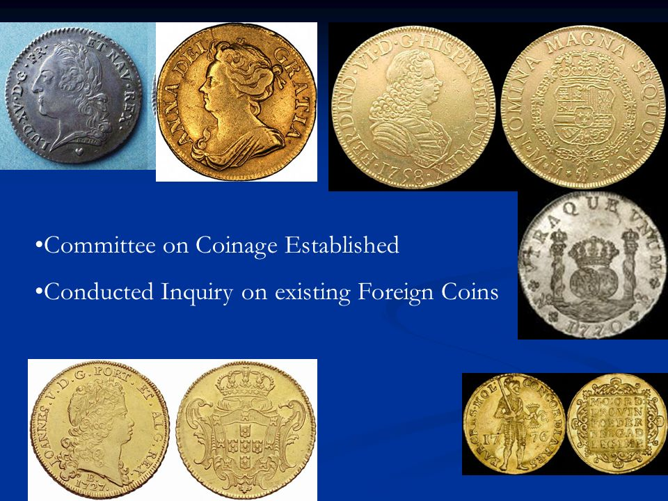 Committee on Coinage Established