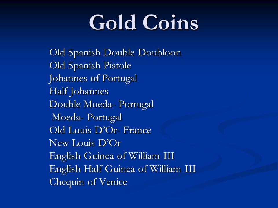 Gold Coins Old Spanish Double Doubloon Old Spanish Pistole