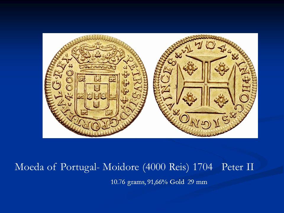 Moeda of Portugal- Moidore (4000 Reis) 1704 Peter II
