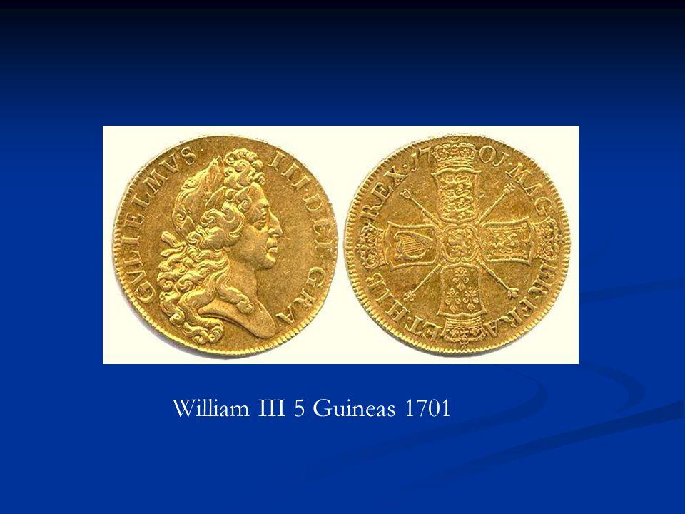 William III 5 Guineas 1701