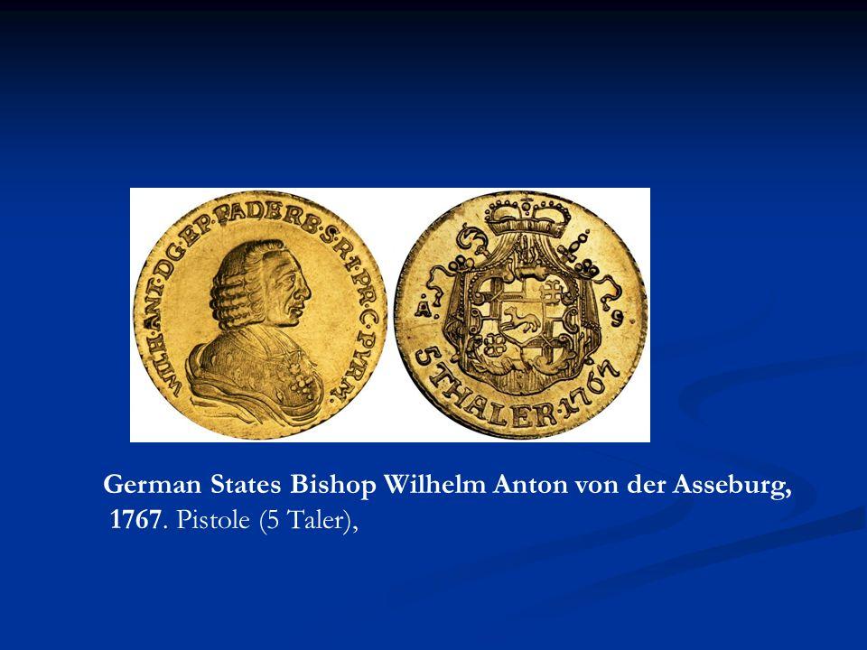 German States Bishop Wilhelm Anton von der Asseburg,