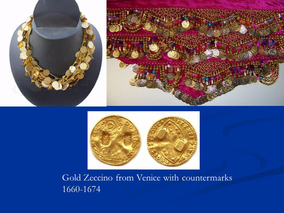 Gold Zeccino from Venice with countermarks 1660-1674