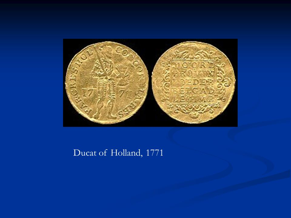 Ducat of Holland, 1771