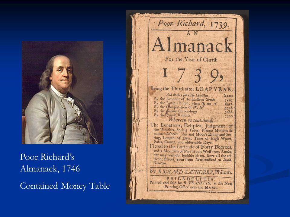 Poor Richard's Almanack, 1746