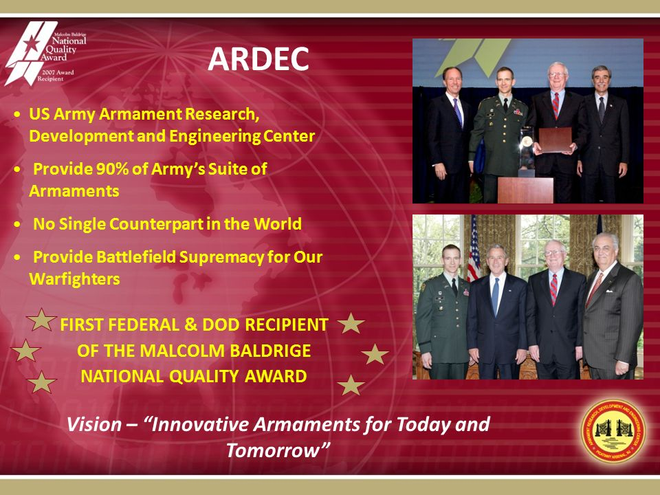 ARDEC Journey to Excellence - ppt video online download