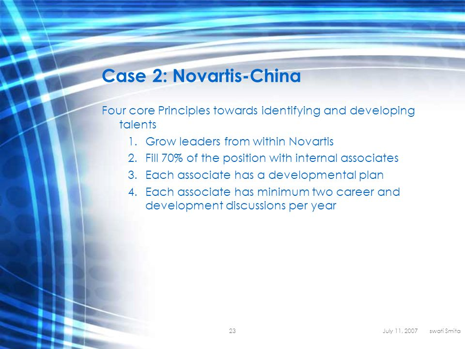 global talent management at novartis case conclusion View essay - novartis case study from ol 667 at southern new hampshire  university  at novartis 2 what are the major challenges facing the novartis  hr  organizational, managerial) novartis faces several challenges as a global .