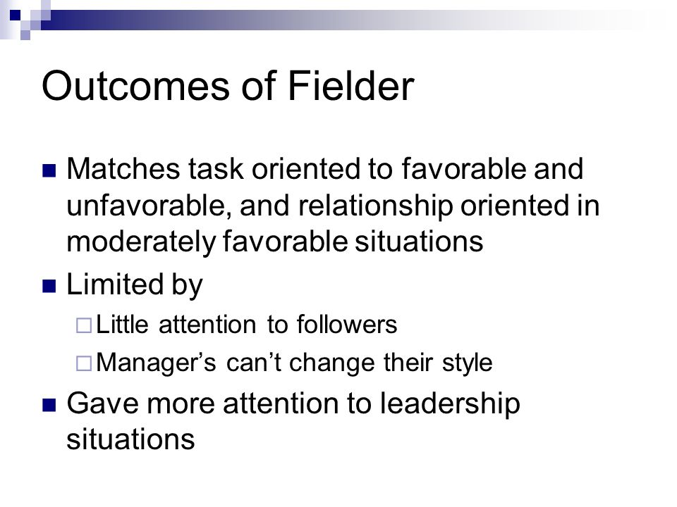 task oriented and relationship leaders