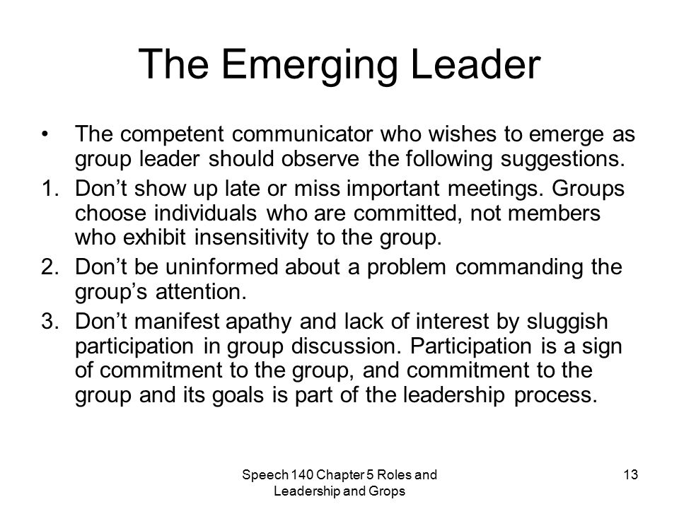 speech for leadership role Leadership communication  role of team leader in team building  he should be a role model for his team members.