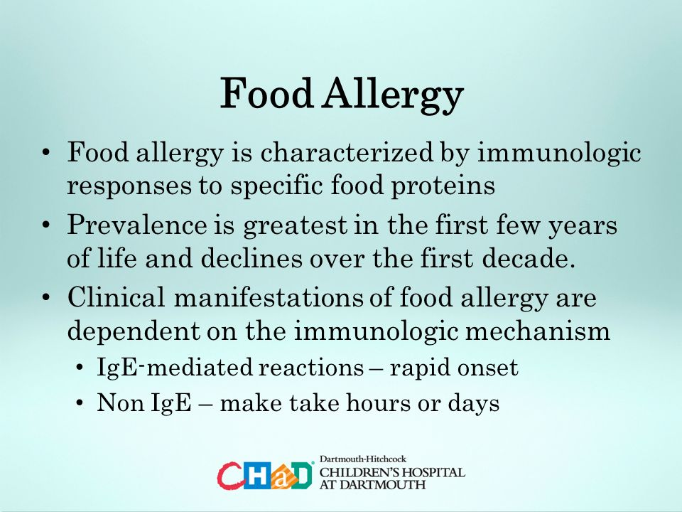 Adult food allergy the