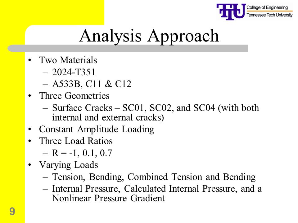 Analysis Approach Two Materials 2024-T351 A533B, C11 & C12