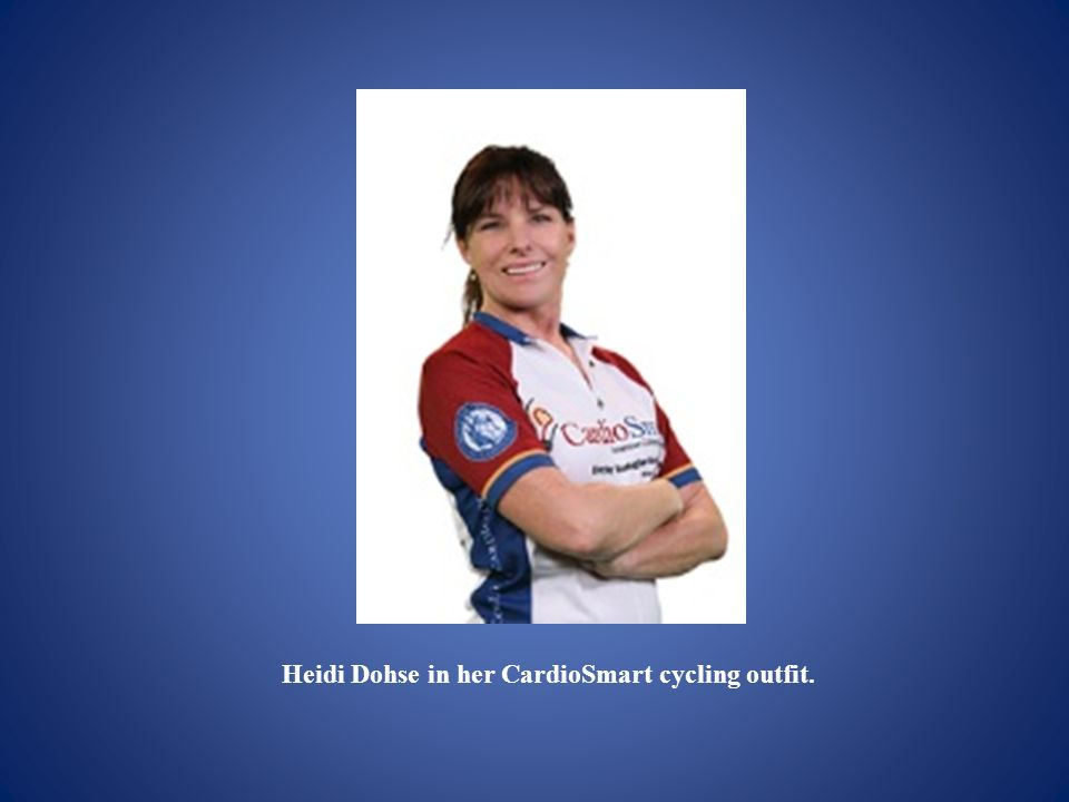 Heidi Dohse in her CardioSmart cycling outfit.