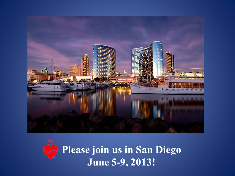 Please join us in San Diego