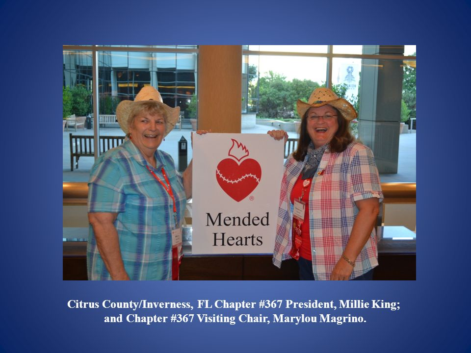 Citrus County/Inverness, FL Chapter #367 President, Millie King;