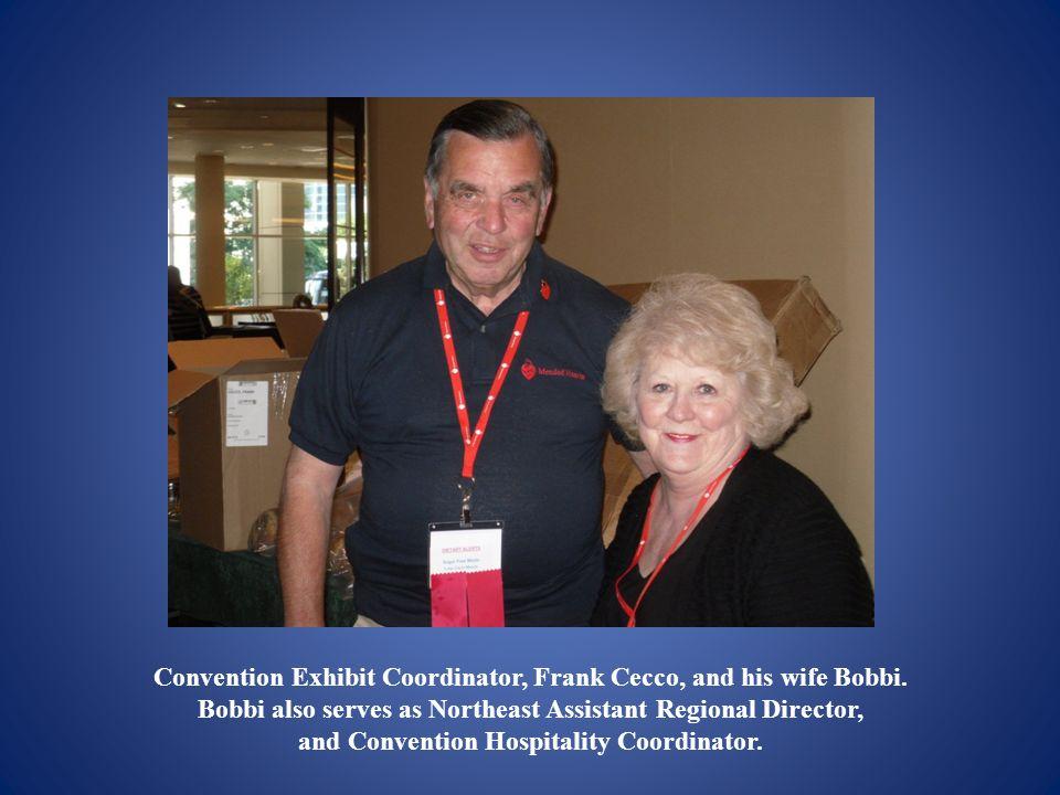 Convention Exhibit Coordinator, Frank Cecco, and his wife Bobbi.