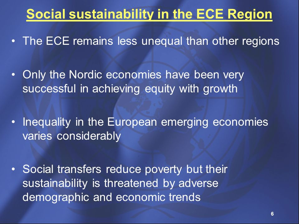 Social sustainability in the ECE Region