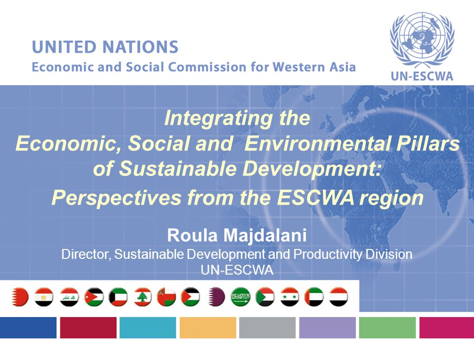 Economic, Social and Environmental Pillars of Sustainable Development: