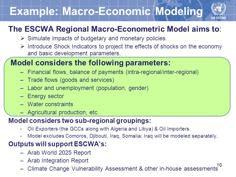 Example: Macro-Economic Modeling