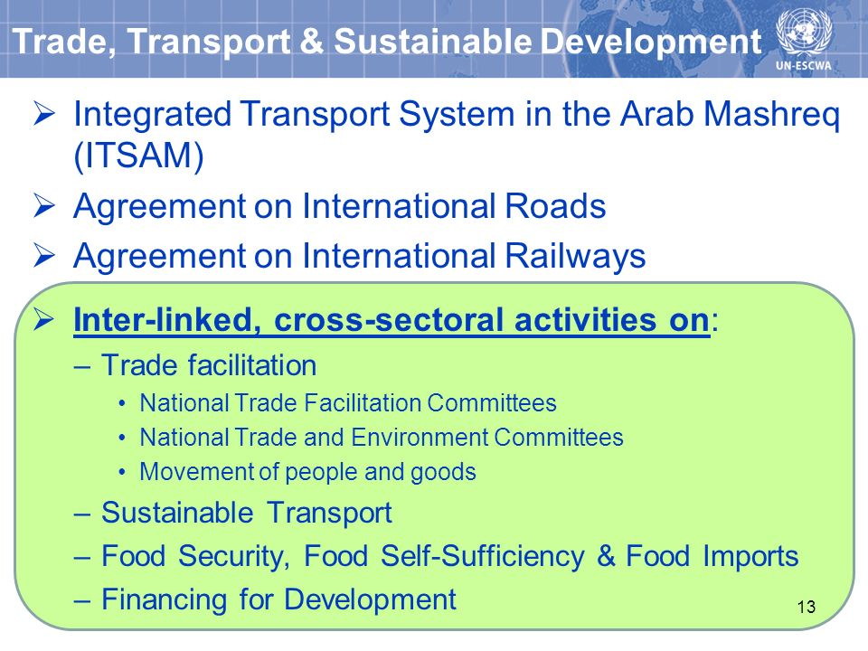 Trade, Transport & Sustainable Development