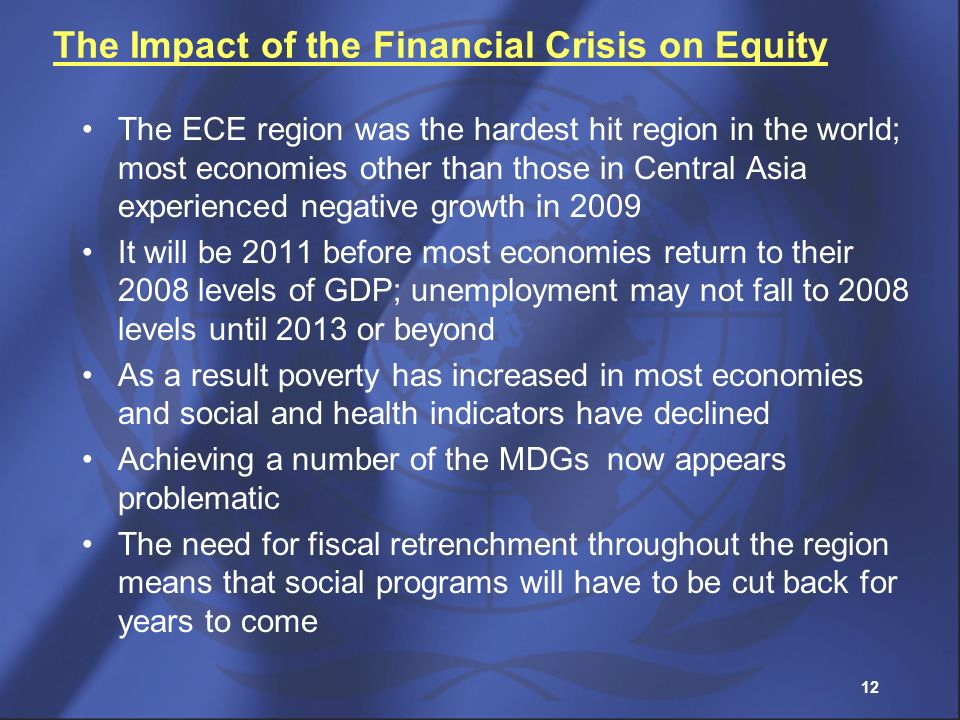 The Impact of the Financial Crisis on Equity